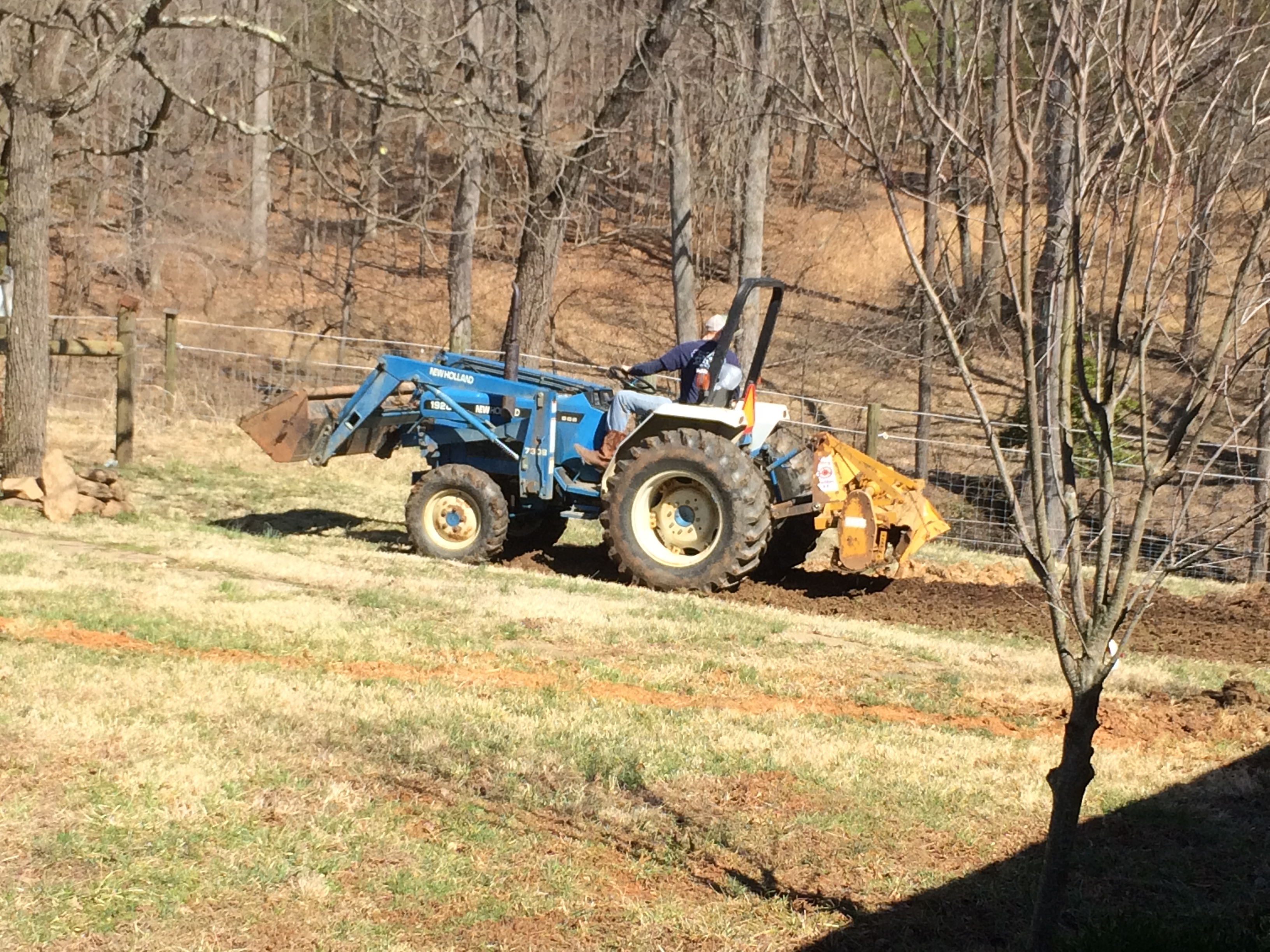 Dalton on the Tractor
