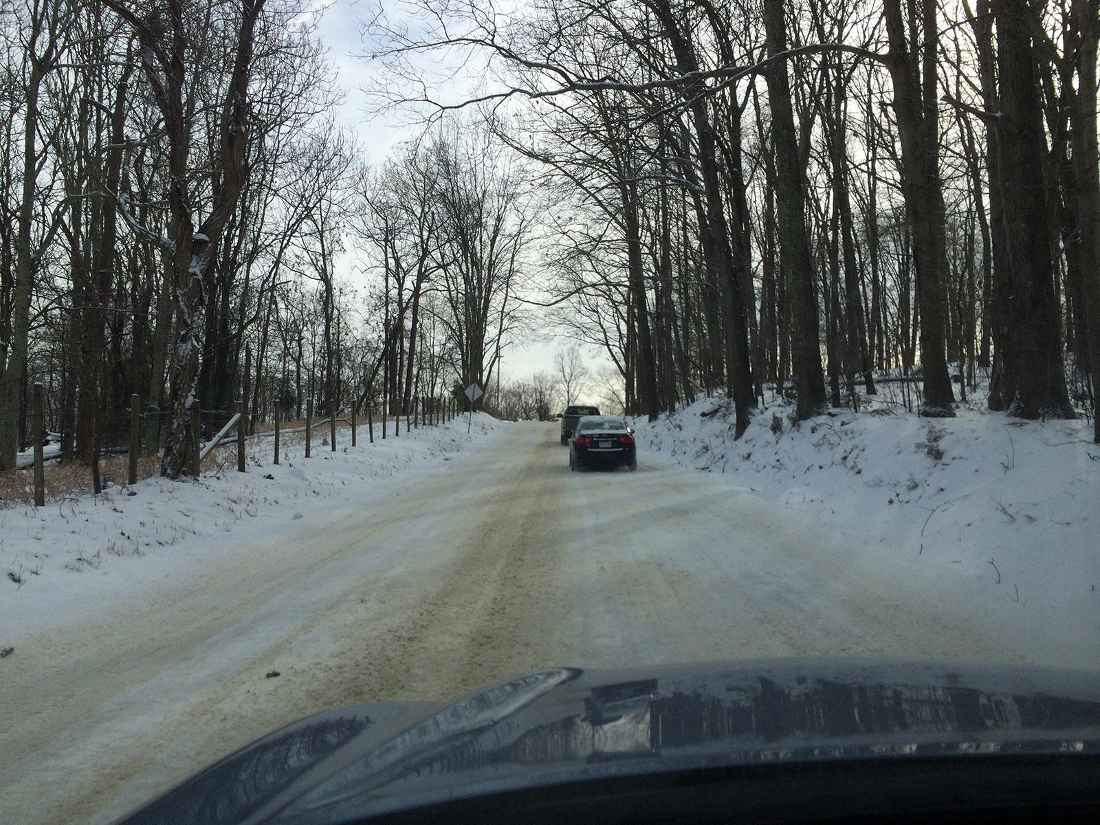 Snowpack roads