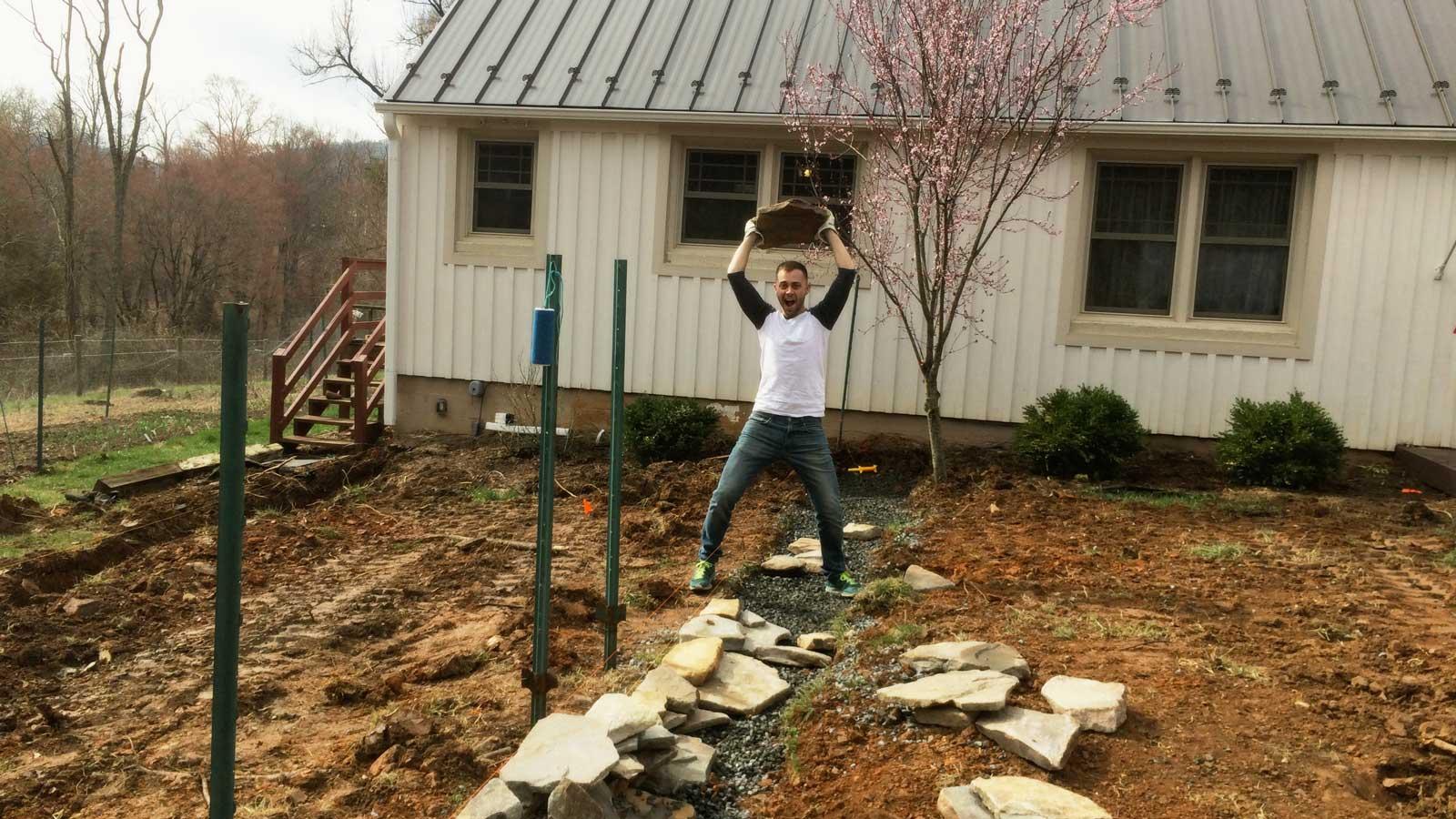 Sean Lifting Rocks